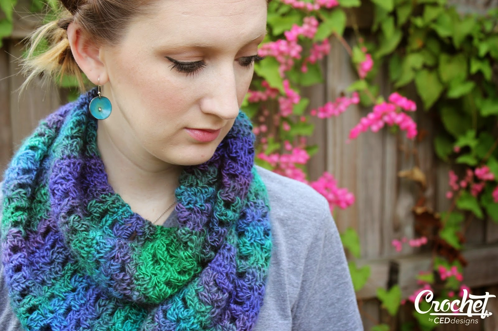free crochet pattern circle scarf