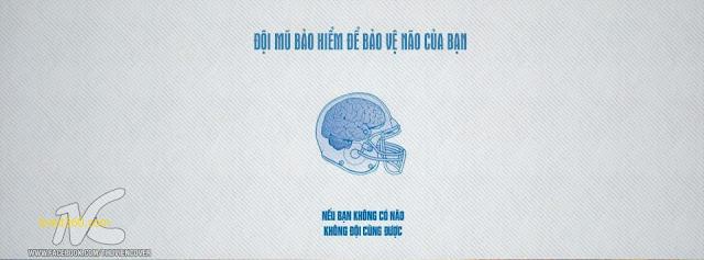 Ảnh bìa Facebook Shock hài hước - Cover FB timeline Funny, đội mũ bảo hiểm là để bảo vệ não của bạn