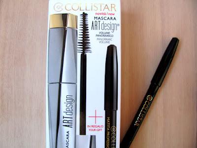 Упаковка туши Collistar Art Design и карандаша Collistar Professionаl Eye Pencil