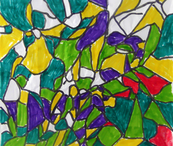 crinkle, paper, crumbled, art, kids, drawing, art activity, art project,