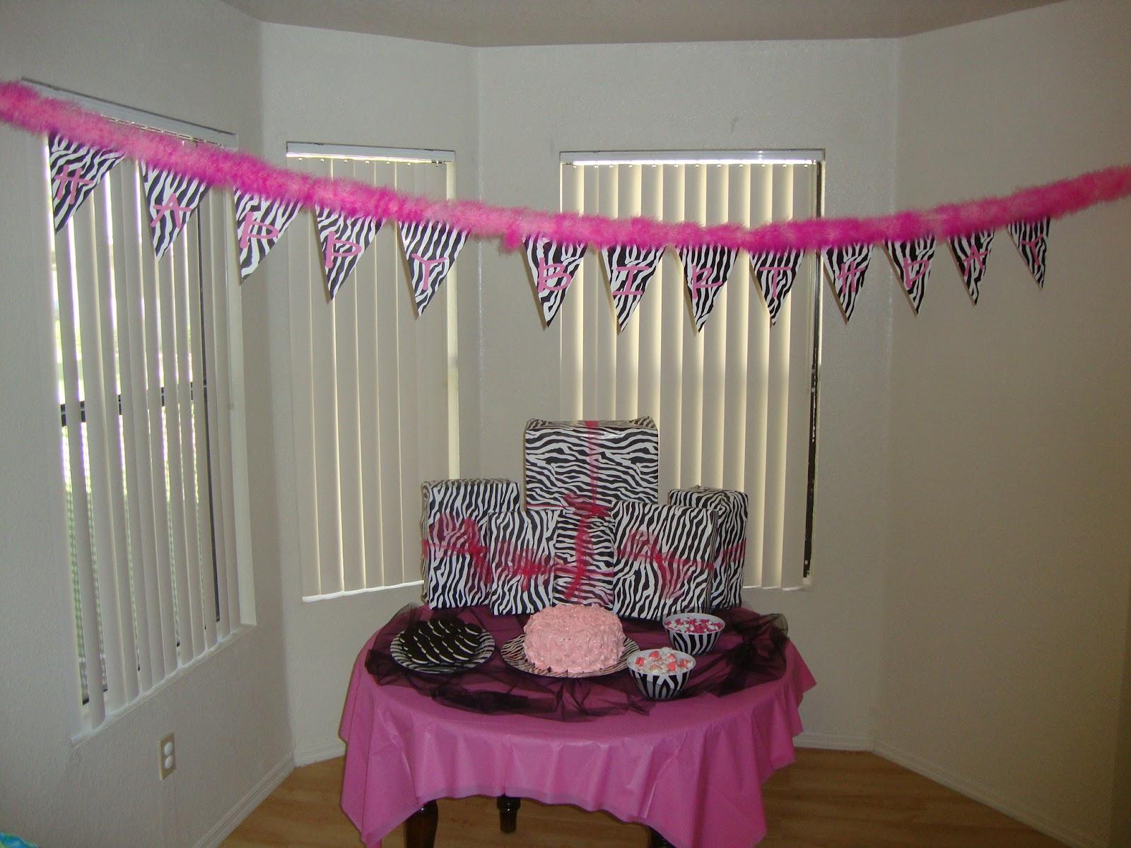 More Sister Stuff: Zebra & Pink Birthday Party!