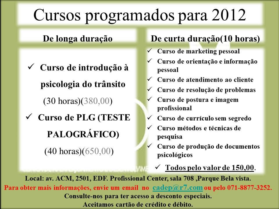 Materias do curso de psicologia