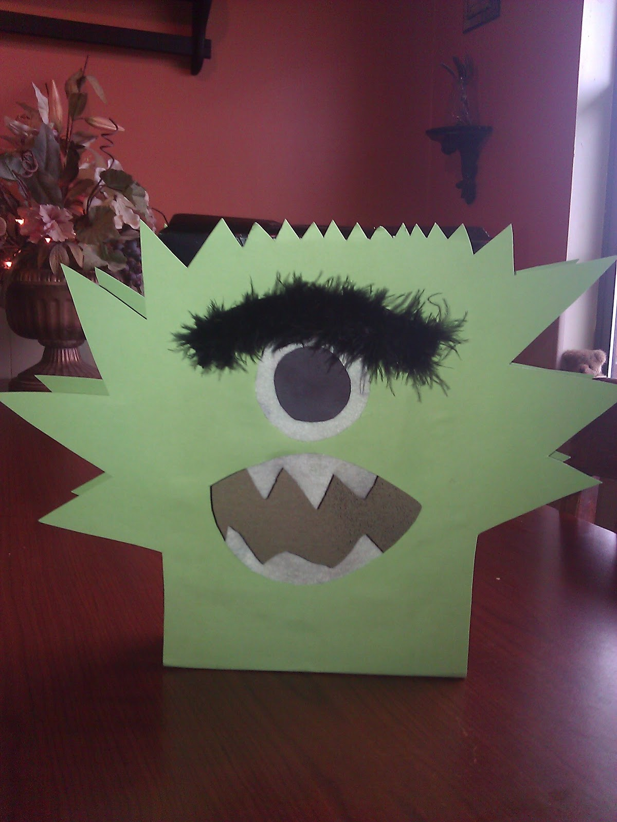 It Is Soon To Be Valentineu0027s Day And I Am Making A Monster Valentine Box  For Sweet Son. First, I Spray Painted It. I Used Black.