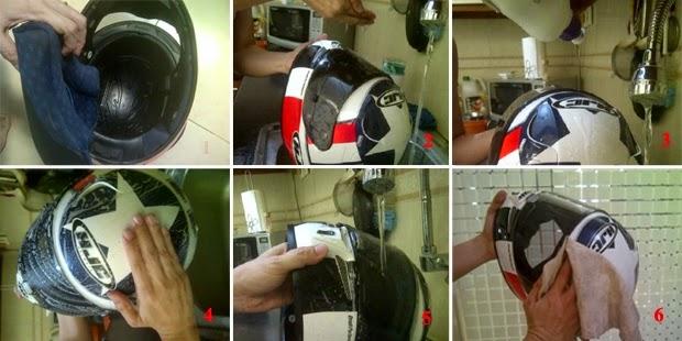 How to Wash Helmet