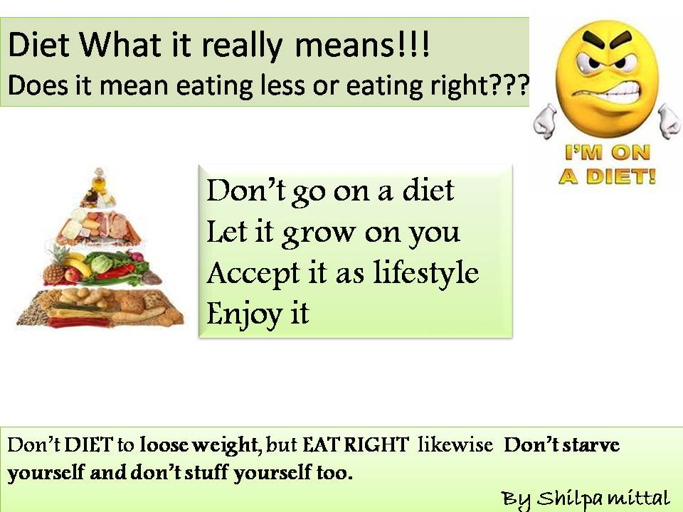 DIET WHAT IT REALLY MEANS!!!!!!!!: November 2012