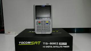 Primeira atualizacao do tocomsat Satélite Finder TS-8002