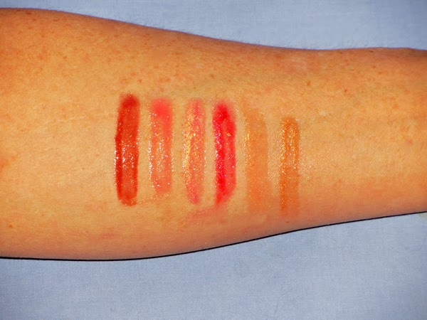 bareMinerals Hot to Trot Marvelous Moxie Lipgloss Swatches