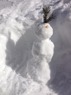 Small 1 foot snowman