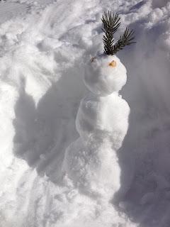 Small 1 foot snowman