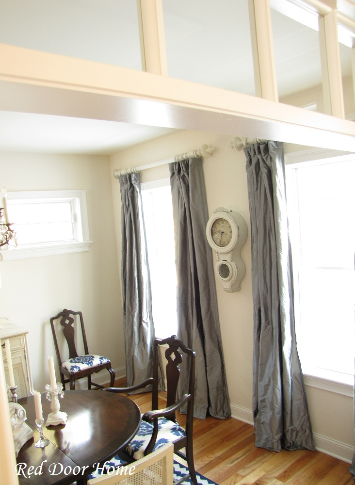 Red Door Home: Where are the Gray Silk Curtains?