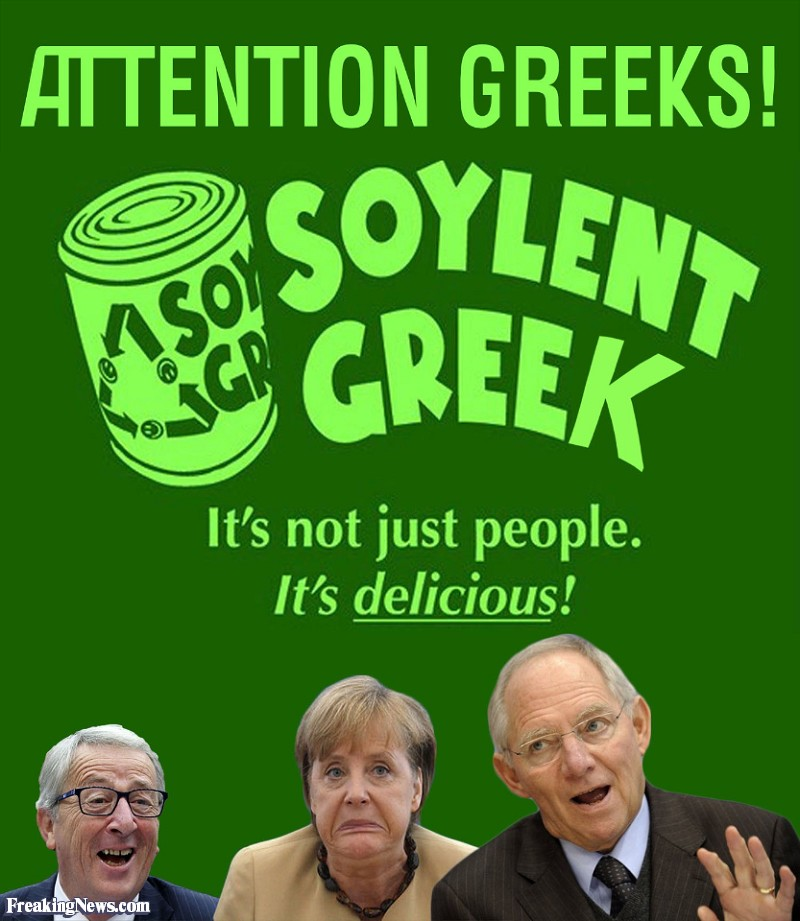 Allah 39 s willing executioners germany admits greece could for Soylent europe