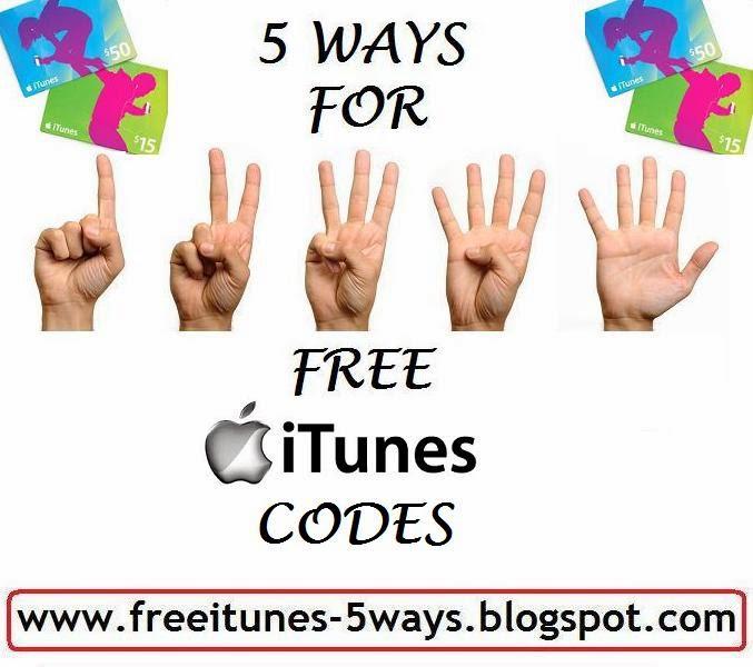 5 Ways To Get Free iTunes Codes