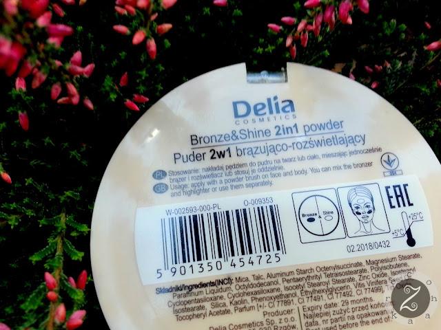 Delia, puder 2w1 brązująco-rozświetlający