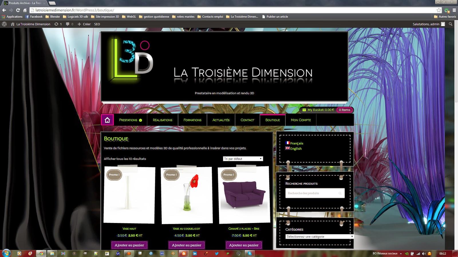 la troisi me dimension ouverture de la boutique de mod les 3d la troisi me dimension. Black Bedroom Furniture Sets. Home Design Ideas