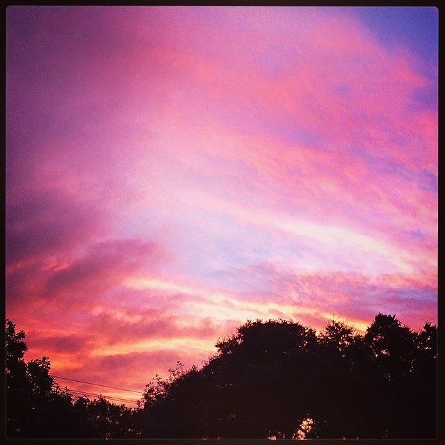 October sunrise in Austin ~ Life in Random Bits #nature #austin #sunrise