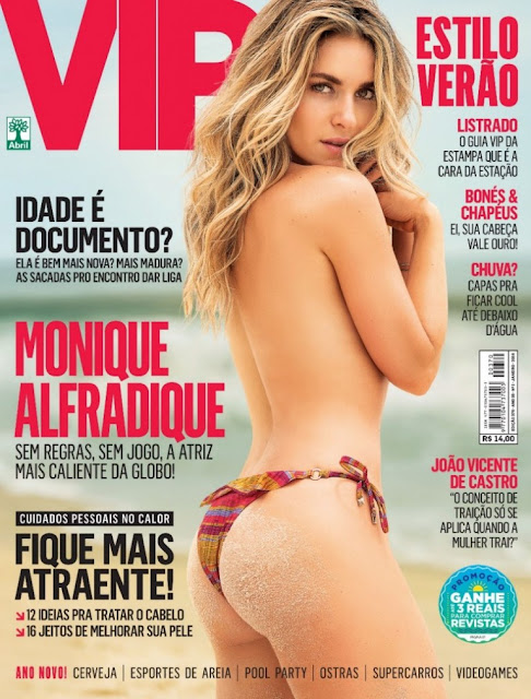 Fotos de Monique Alfradique nua e pelada na Revista vip