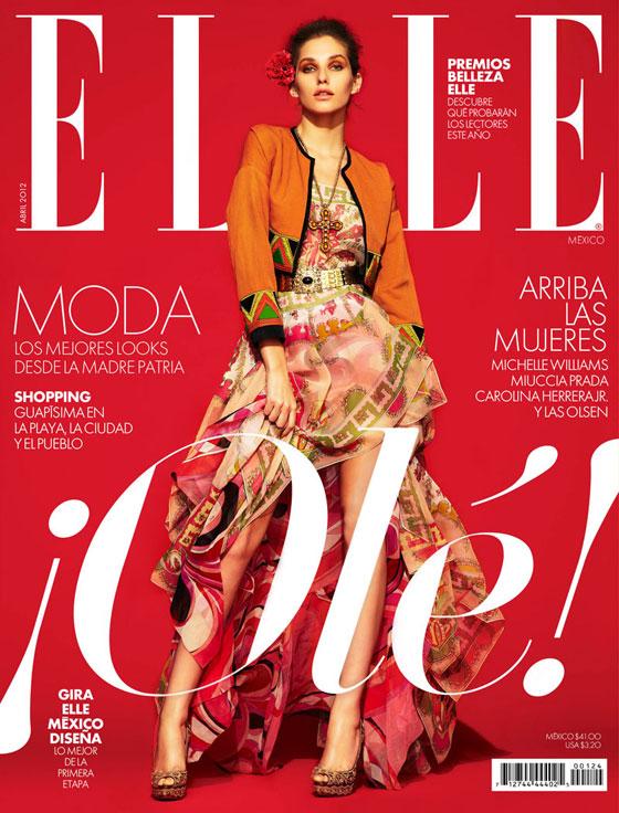Kelsey Van Mook para Elle México abril 2012