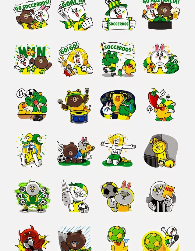 Line Characters Soccer Fans