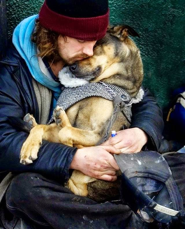 Homeless people and their canine companions