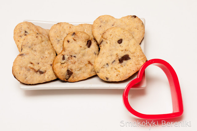 ciasteczka migdałowo-czekoladowe