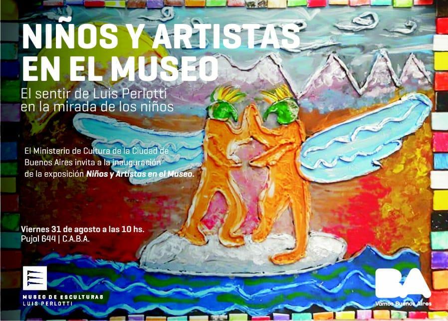 Niños y artistas en el Museo.
