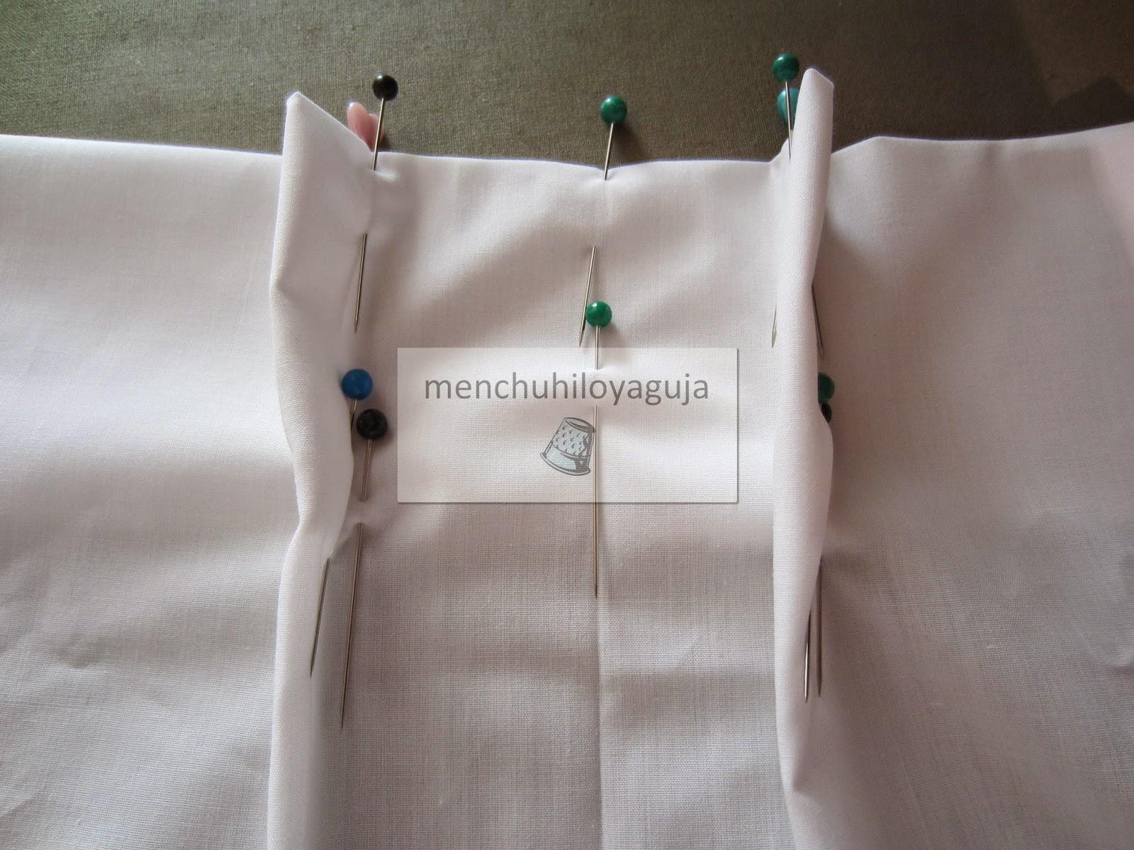Patrones de costura visillos o cortinas con pinza - Como hacer visillos ...