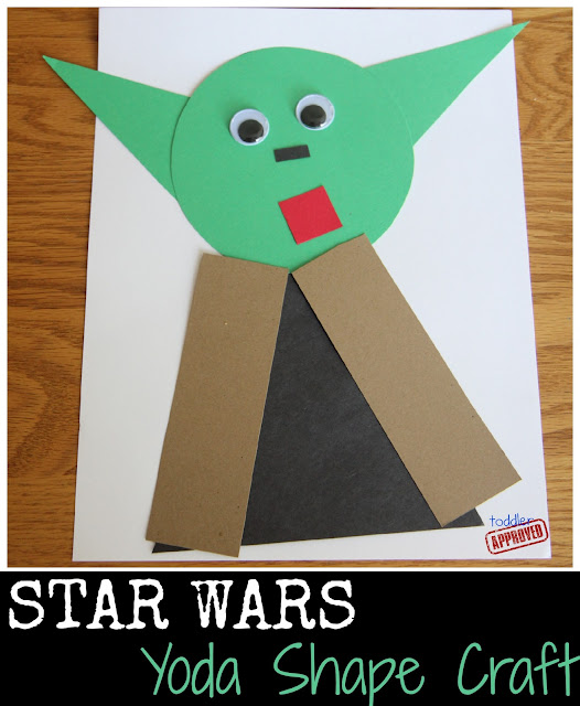 toddler approved star wars yoda shape craft