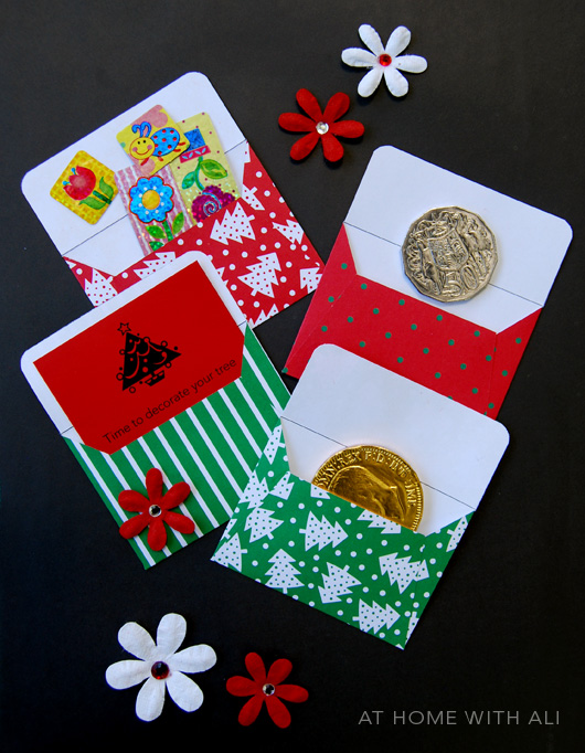 Advent Calendar Envelopes Ideas : At home with ali christmas advent calendar mini envelopes