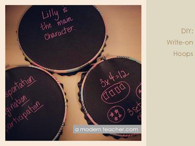 A Modern Teacher: DIY Write-on Hoops