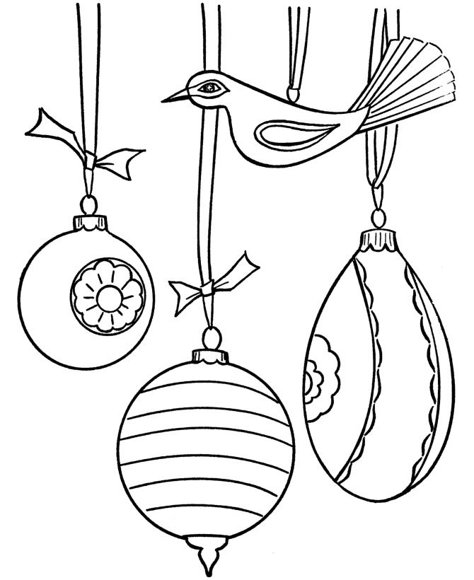 Free Coloring Pages Christmas Ornaments Coloring Page Tree Decorations Coloring Pages