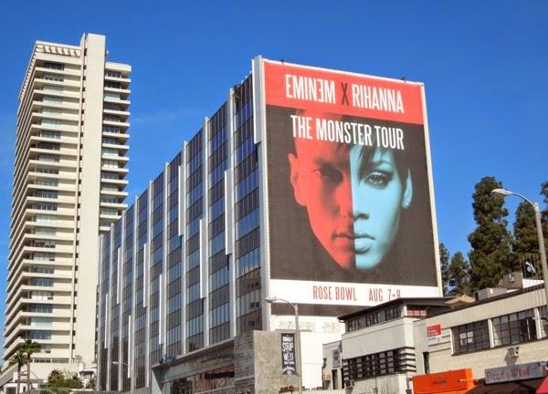 Giant Eminem Rihanna Monster Tour billboard