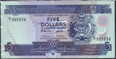 Isole Solomon 5 Dollars 1986 P# 14