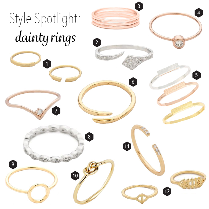 Dainty rings that make the most of minimalist style