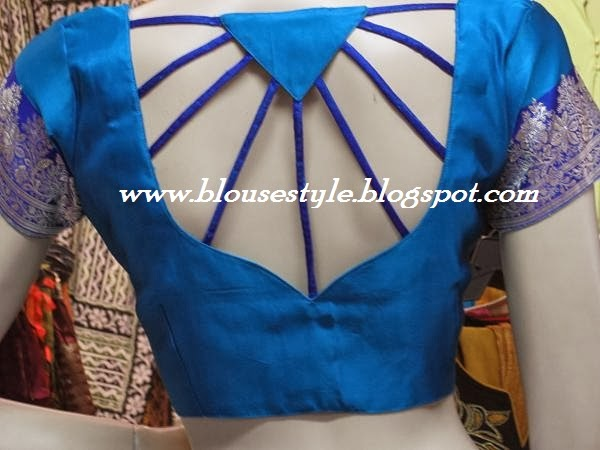 DIFFERENT STYLE CUT WORK YOUTH BACK NECK BLOUSE