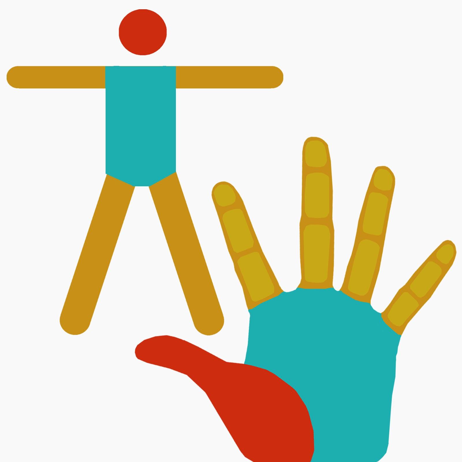 cuerpo, mano, isotipos