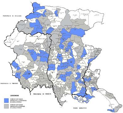 Mapa de Friuli Venezia Giulia