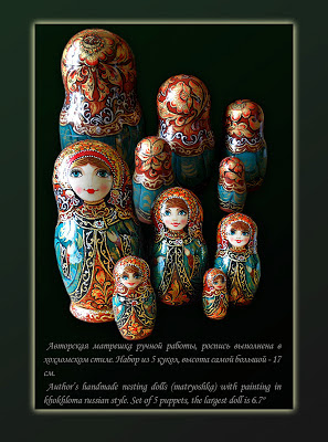 Exclusive Souvenirs (Nesting Dolls, Eggs, Box) and Jewelry with russian folk painting.   Sale! Only to June 16 discount on all products 20% http://www.etsy.com/shop/Artworkshop1