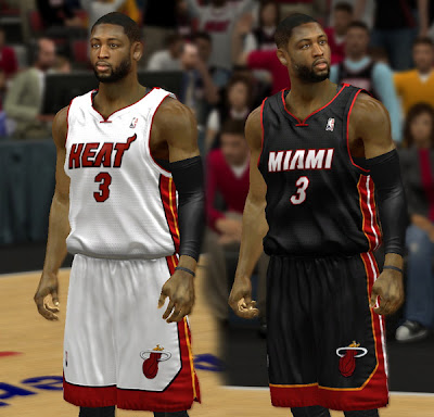 NBA2K Miami Heat Jersey Mod for NBA 2K13 PC