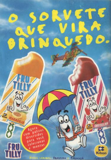 Propaganda impressa do picolé Frutilly da Kibon em 1995.