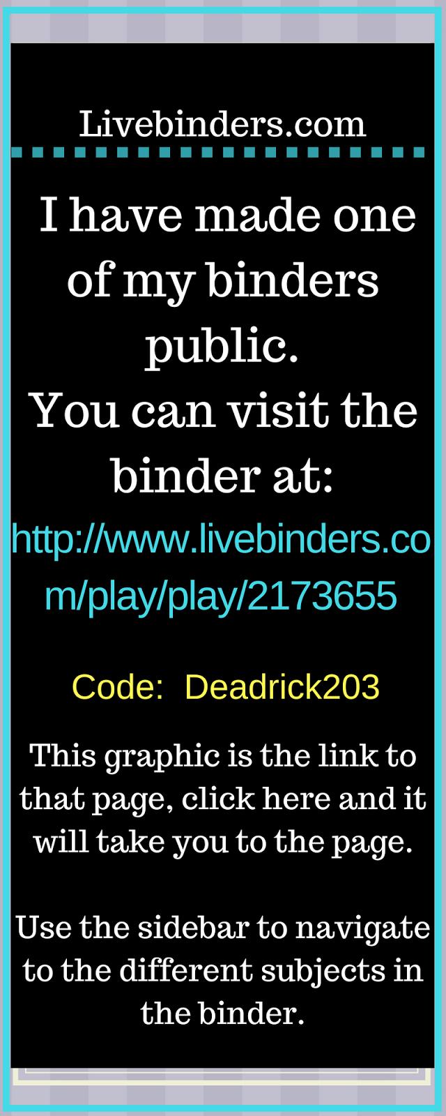 Live Binders Link