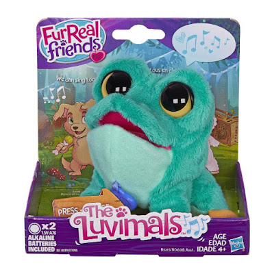 TOYS : JUGUETES - FurReal Friends : The Luvimals  C.L. Ribbit | Rana - Peluche - Mascota Electronica  Producto Oficial 2016 | Hasbro B5115 | A partir de 4 años  Comprar en Amazon España & buy Amazon USA