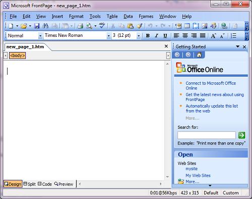 Как создать хороший сайт в microsoft office frontpage 2003 - TurnPike