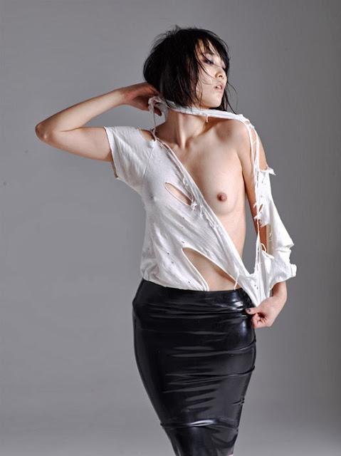 Rinko Kikuchi Half Topless Photoshoot By Nicola Formichetti