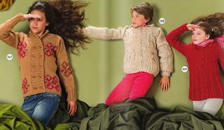 Çocuk örgü hırka ve kazak modelleri