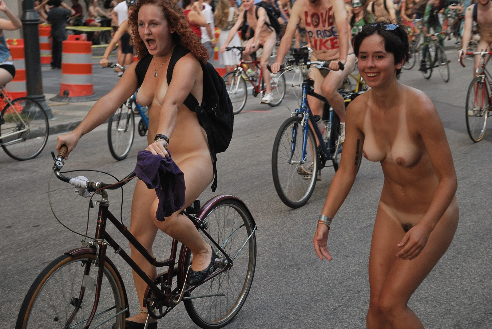 Completely Naked on a bike think