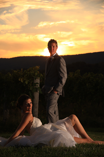 Bride and Groom Breaux Winery| Whysall Photography