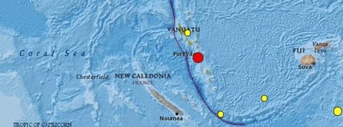 terremoto de magnitud 6,3 grados sacudió la región de Vanuatu, en el Pacífico Sur, 8 de julio 2014
