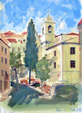 L'église Santa Luzia de Lisbonne