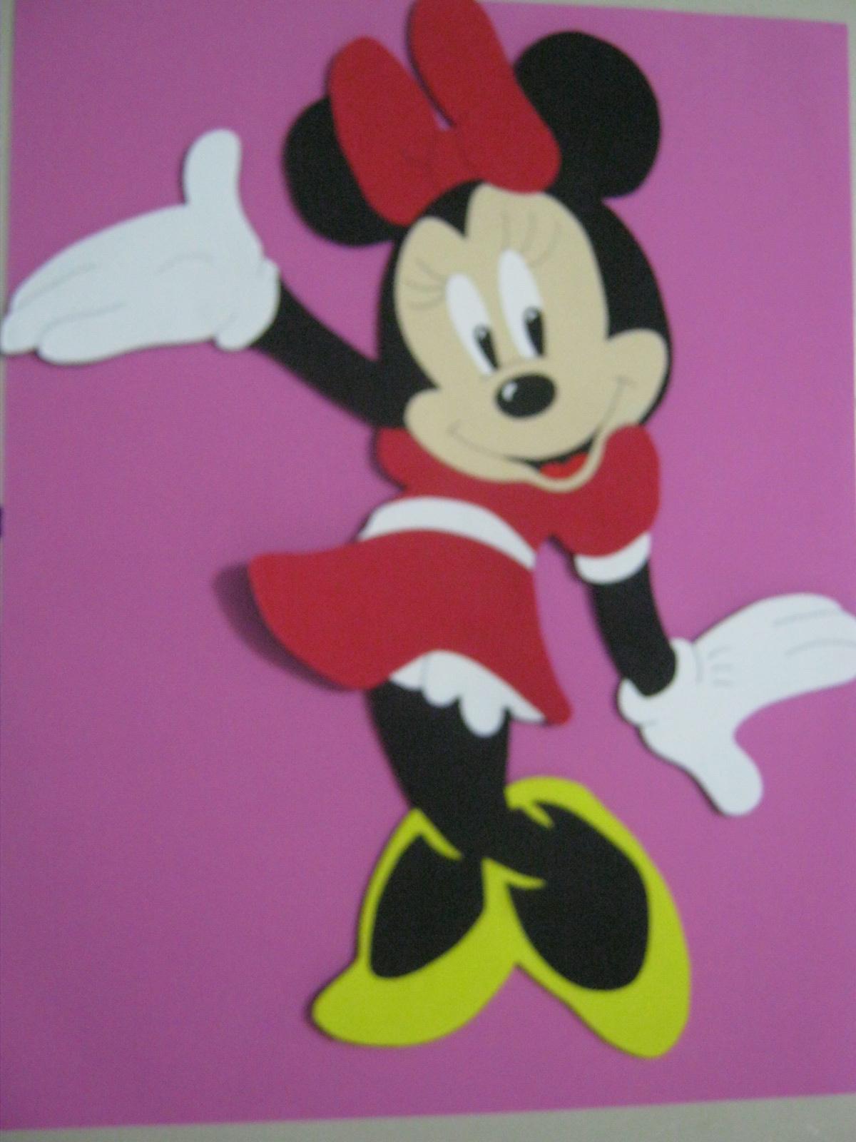 Mis fofuchas 2013 artfoamicol como hacer minnie mouse en for Decoracion goma eva infantil