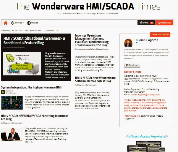 The Wonderware HMI/SCADA Times